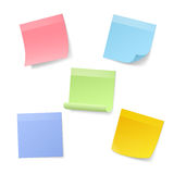 Blank Realistic Sticky Note Papers Royalty Free Stock Photo
