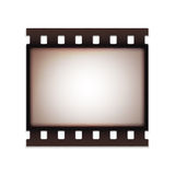 Blank realistic vintage retro old film strip Stock Photo