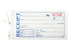 Blank receipt Stock Photography