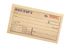 Blank receipt Royalty Free Stock Photo