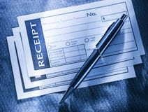 Blank receipt Stock Images