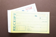 Blank receipts Royalty Free Stock Image