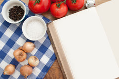 Blank recipe book stock image