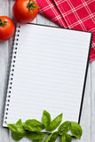 Blank recipe book Stock Photos