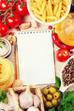 Blank recipe book Royalty Free Stock Image