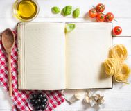 Blank recipe book Royalty Free Stock Images