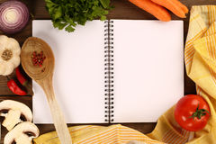 Blank recipe book Royalty Free Stock Photography