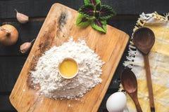 The blank recipe book with italian spaghetti Royalty Free Stock Image