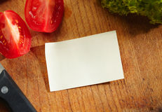 A Blank Recipe Card with Ingredients. Blank Recipe Card (or Shopping List) with Ingredients Stock Photos