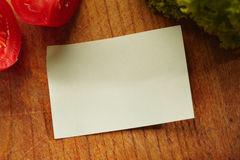 A Blank Recipe Card with Ingredients Stock Image