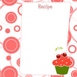 Blank recipe with CupCake Stock Image