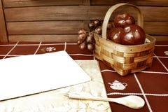 Blank recipe notebook background Stock Photos