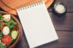 Blank recipe notepad Royalty Free Stock Photos