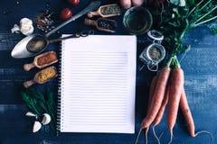Blank recipes book Stock Photos