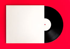 Blank record album and cover Royalty Free Stock Photography