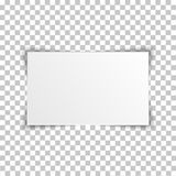 Blank rectangle album template on transparent background. Vector illustration. Royalty Free Stock Image