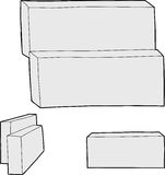 Blank Rectangular Boxes Royalty Free Stock Images