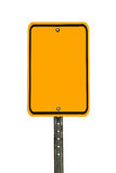 Blank Rectangular Caution Sign Stock Photography