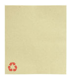 Blank recycle paper isolated Stock Image