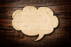 Blank Recycle paper Speech Bubble Stock Image