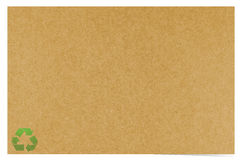 Blank recycled paper Stock Image