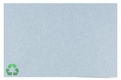 Blank recycled paper. Craft stick on white background Stock Photo