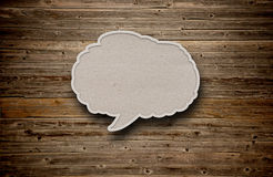 Blank recycled paper speech bubble Stock Image