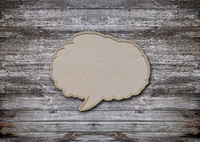 Blank recycled paper speech bubble Royalty Free Stock Photo