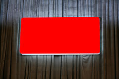 Blank red Billboard Royalty Free Stock Photography