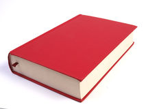 Blank Red Book. Separated on white background Stock Image