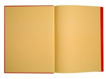 Blank red book with orange pag Stock Images