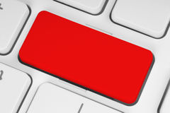 Blank red button Royalty Free Stock Images