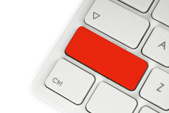 Blank red button Royalty Free Stock Image