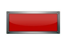 Blank red button Stock Images