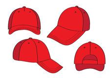 Blank Red Caps Royalty Free Stock Images