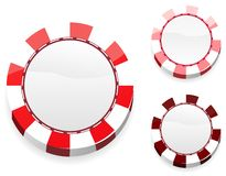 Blank red casino chips Royalty Free Stock Image
