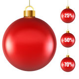 Blank red Christmas ball Royalty Free Stock Photography