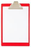 Blank red clipboard