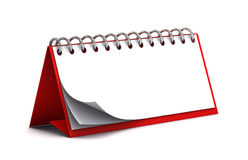 Blank red desk paper calendar Stock Photos