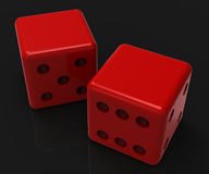 Blank Red Dice Shows Copyspace Gambling And Luck royalty free illustration