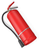 Blank red fire extinguisher. On white background 3D illustration Stock Photography