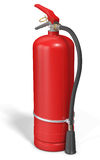 Blank red fire extinguisher. On white background 3D illustration Stock Images