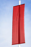Blank red flag. Space for text Stock Photo