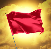 Blank Red Flag Stock Photography