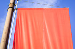 Blank red flag Royalty Free Stock Images