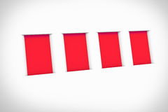 Blank red frames on the wall Stock Images