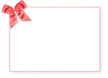 Blank red gift tag with a bow Royalty Free Stock Photos