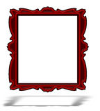 Blank red glass portrait frame isolated on white Royalty Free Stock Photo