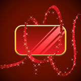 Blank red glossy banner Royalty Free Stock Photo