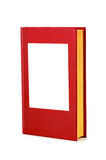 Blank red hardback book Stock Image